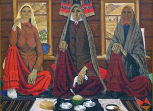 Achmat Lutfullin. Three women. 1969. Oil on canvas