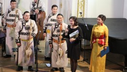 Today in Ufa the Tuva National Orchestra performed with a single concert