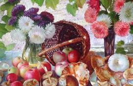 «Ижад» галереяһында Башҡортостандың атҡаҙанған мәҙәниәт хеҙмәткәре Виктор Кириченконың шәхси күргәҙмәһе асылды