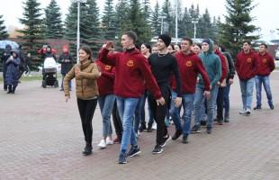 Государственный академический ансамбль народного танца им. Ф.Гаскарова провел танцевальный флешмоб