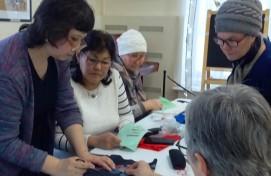 В выставочном зале «Ижад» состоялся мастер-класс по тамбурной вышивке