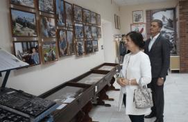 The Minister of culture of Bashkortostan Amina Shafikova visited the Yermekeyevsky district of Bashkortostan