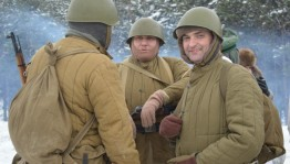 In republic held military-historical reconstruction of the battle of the 112th Cavalry Division