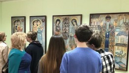 """In Ufa the opening of the exhibition """"Panel for the Prayer"""" by N. Roerich took place"""