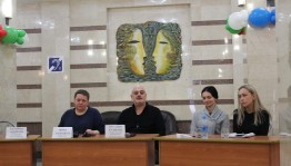 """The Youth Theater of M.Karim hosted a press conference on the eve of the premiere of Anton Chekhov's play """"Three Sisters"""""""