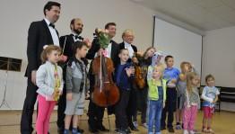 Квартет солистов Национального филармонического оркестра России выступил в Республиканской детской клинической больнице