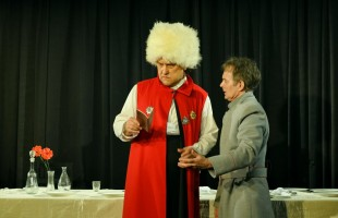 "The Russian Drama Theater of the Republic presented the premiere of ""The Death of Tarelkin"" by A. Sukhovo-Kobylin"