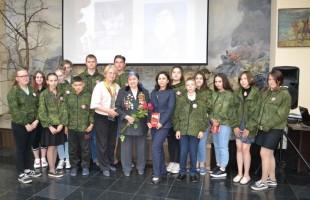 В Республиканском музее Боевой славы состоялась встреча с участником ВОВ Тамарой Казаковой